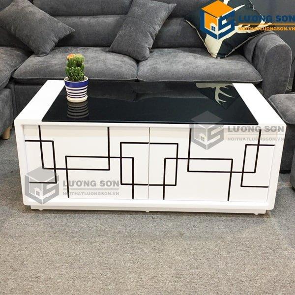 Bàn trà BT09 thường kết hợp với ghế sofa tạo không gian sang trọng