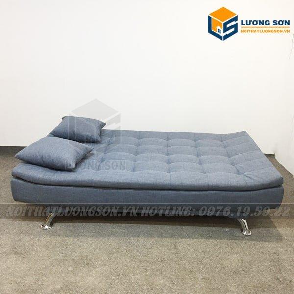 Ghế Sofa Giường hai lớp màu xanh – SFB10 ngả ra thành giường giúp tiết kiệm diện tích không gian nhỏ