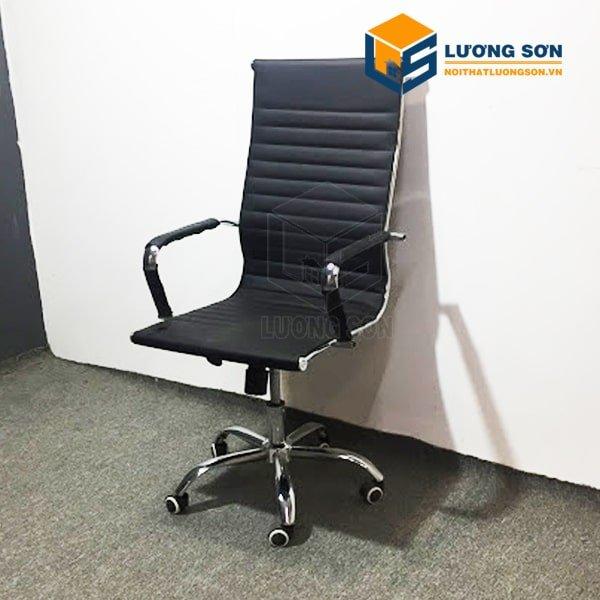 Ghế xoay bằng da đơn giản mà tinh tế với thiết kế ôm lưng