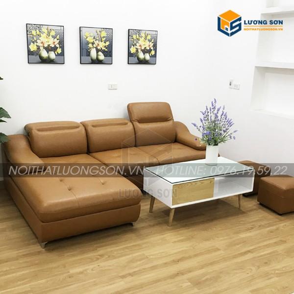 Sofa góc da bò – SFD04