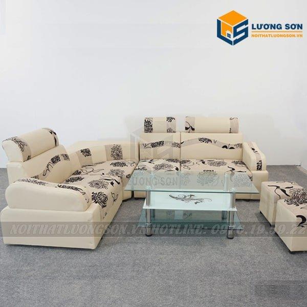 Sofa góc nỉ hoa – SFG03 một sản phẩm sofa giá rẻ rất được ưa chuộng trên thị trường hiện nay