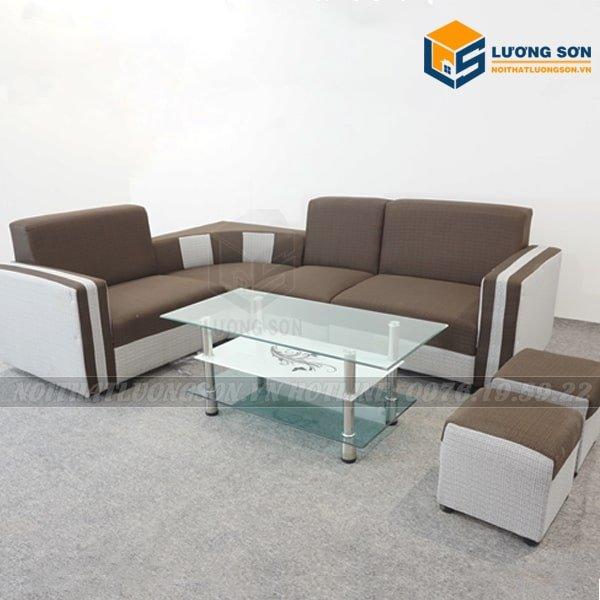 Sofa góc nỉ nâu – SFG02 thường được dùng làm sofa văn phòng, nhà ở với thiết kế chia cục rất thông minh, bạn hoàn toàn thay đổi được các vị trí muốn lắp đặt
