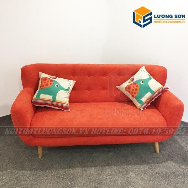 Sofa văng nỉ cam 1m6 – SFV03