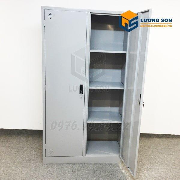 Hình ảnh bên trong tủ khi mở cánh Tủ Sắt Tài Liệu 2 ô - CAT09C