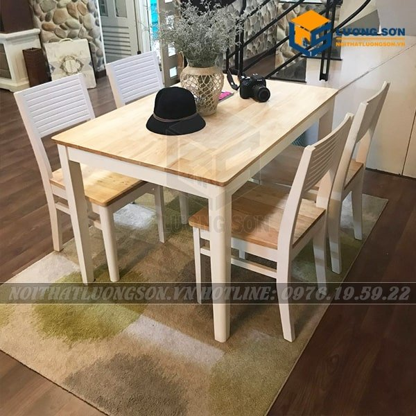 Bộ bàn ăn cherry 4 ghế – BA15 giá rẻ hấp dẫn chính là ví dụ điển hình cho dòng sản phẩm giá rẻ chất lượng. Hãy đến với nội thất Lương Sơn để được tư vấn và có những lựa chọn phù hợp nhất.