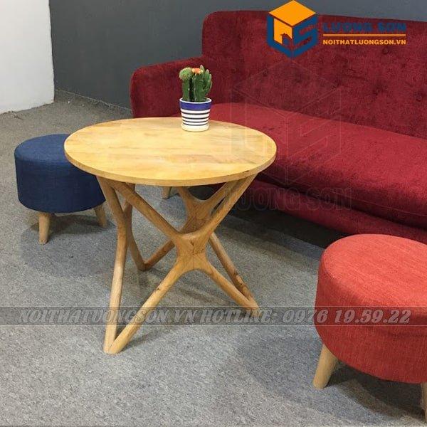 Bàn trà chân sao BT24 rất được ưa chuộng làm bàn trà tại các căn hộ, các quán cafe