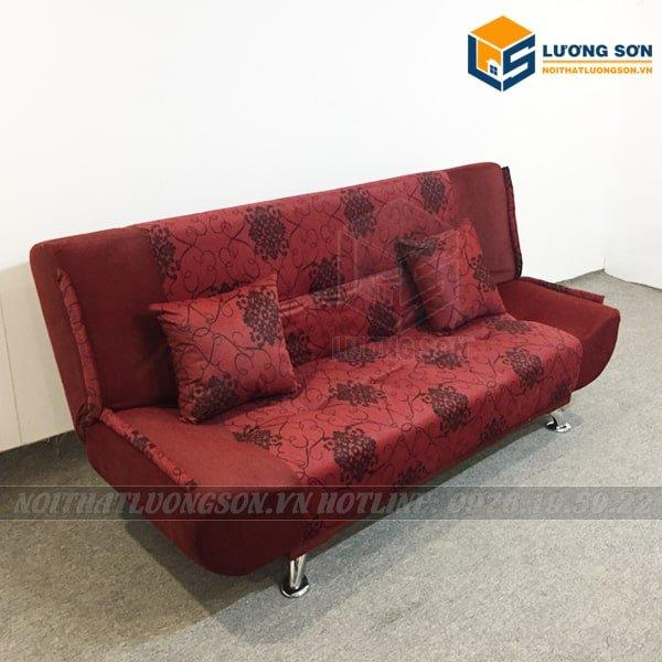 Ghế Sofa Giường đa năng – SFB03 với họa tiết hoa kết hợp màu đỏ rất bắt mắt