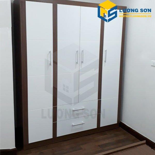 Tủ quần áo 1m6 - TA12 là dòng tủ quần áo 4 cánh, 2 ngăn kéo nổi