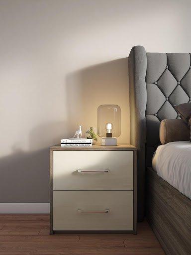 Mẫu tab đầu giường được làm từ chất liệu gỗ