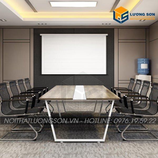Bàn họp chân chữ U thường được kết hợp với nhiều loại ghế văn phòng