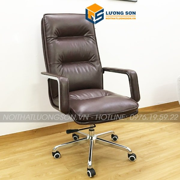 Ghế giám đốc G8176 thuộc dạng ghế xoay bọc da PU cao cấp thường dùng cho các cấp bậc trưởng phòng, giám đốc