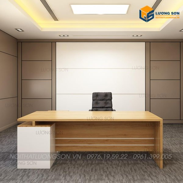 Mẫu bàn giám đốc hiện đại cho trưởng phòng
