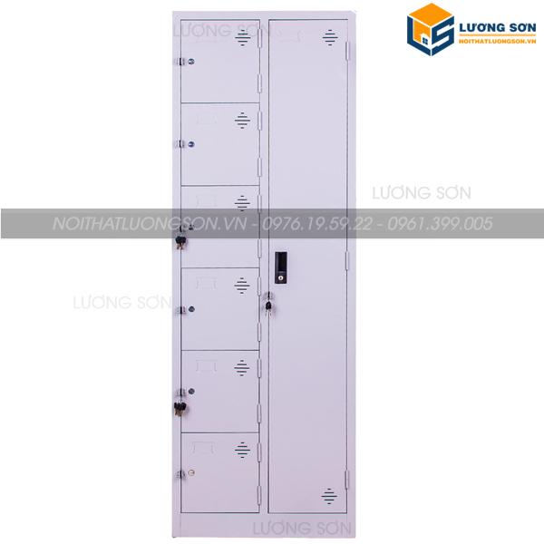 Tủ locker kết hợp tủ sắt dựng đồ LK07 kiểu dáng mới lạ độc đáo