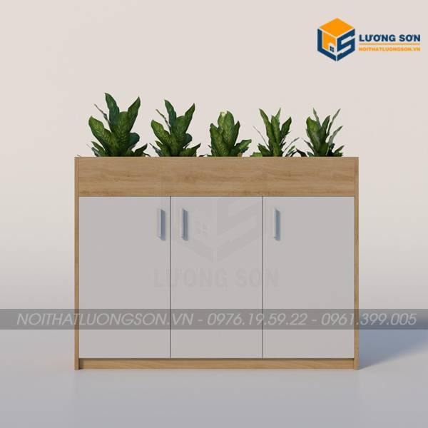 Tủ cây Eco trang trí 3 ngăn – TL32 màu vàng