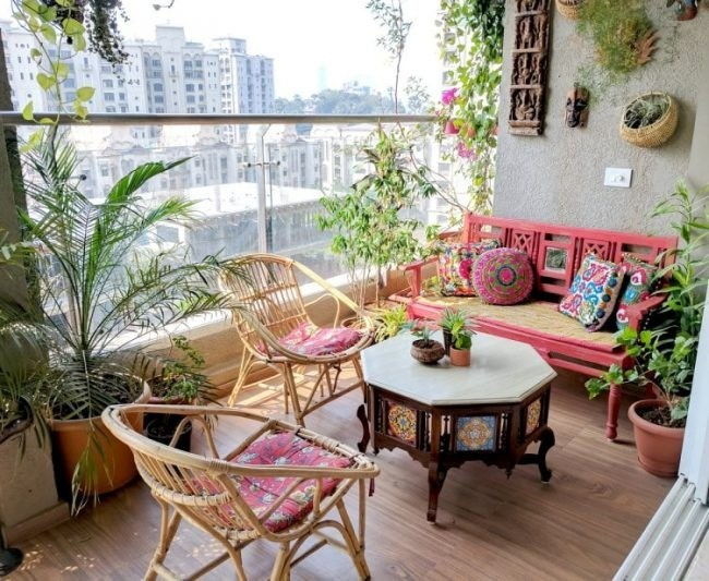 ban công đẹp, Cách thiết kế ban công đẹp theo phong cách nội thất Eco