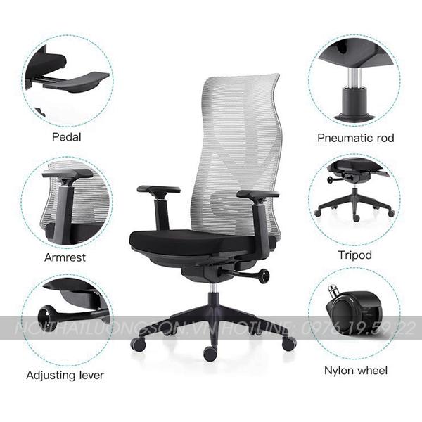 Toàn bộ FULL 6 chức năng ghế giám đốc G8109