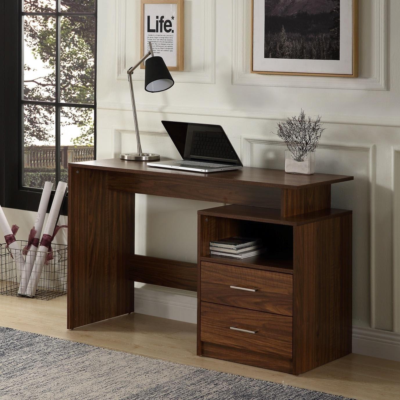 bàn làm việc gỗ, 10 mẫu bàn làm việc gỗ thay đổi phong thủy văn phòng ngay lập tức