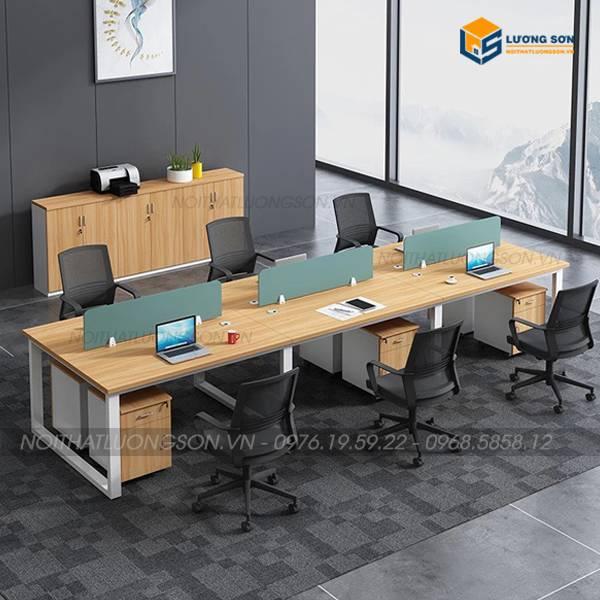 Module bàn làm việc chữ U 6 người 3m6 CB1136